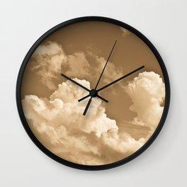 Sepia sky Wall Clock