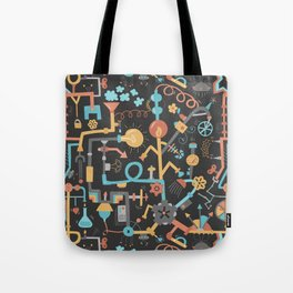 Pipe Dreams - Dark Orange Tote Bag