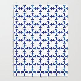 blue morrocan dream no1 Poster