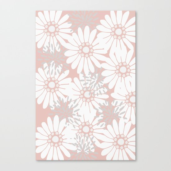 Summer Flowers Pink Canvas Print