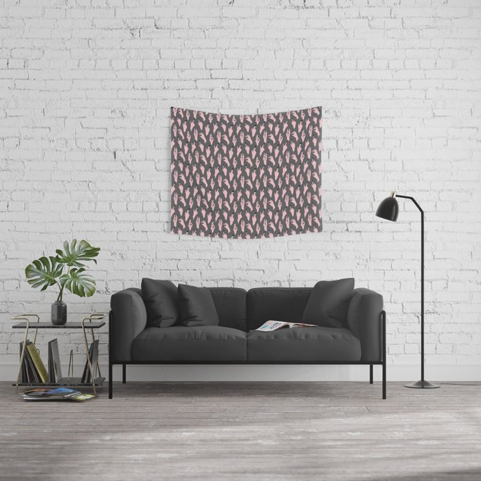 pink swipers Wall Tapestry