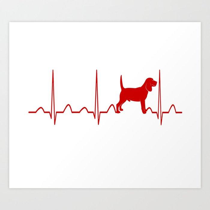 Beagle Heartbeat Kunstdrucke