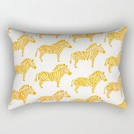 Zebras – Yellow Palette Rectangular Pillow