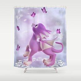 Little Dragon 2 Shower Curtain