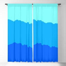 Minimal Mountain Range Outdoor Abstract Blackout Curtain