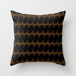 Black & Tan Dog Tooth Design Throw Pillow