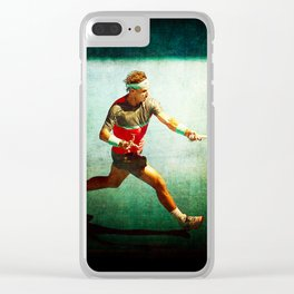 Nadal Tennis Forehand Clear iPhone Case