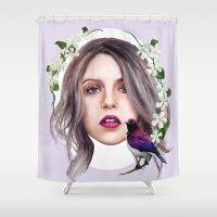 jasmine Shower Curtains featuring Jasmine by Ellen Macintyre