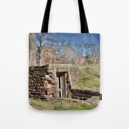 Cherokee Nation - Hendricks Spring, the Site Selected for Seminary Hall, after the first burned, #2 Tote Bag