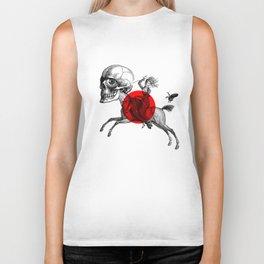 Love is a mad horse Biker Tank
