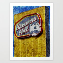 Natty Boh sign in Brewers Hill Baltimore Art Print