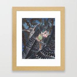 Curious Lil Beasty Framed Art Print