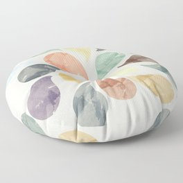 Colorful Water Drops (Watercolor version) Floor Pillow