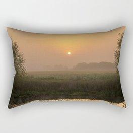 River Idle Dawn Rectangular Pillow