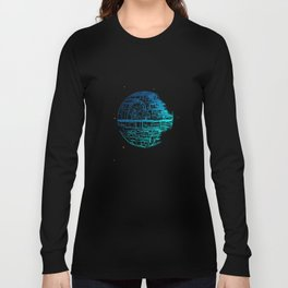 Death Star Blueprint. Long Sleeve T-shirt