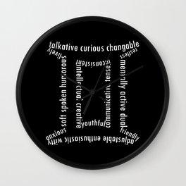 Gemini typography Wall Clock