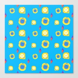 yellow substances in a blue matter Canvas Print