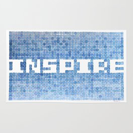 Inspire watercolor mosaic Rug