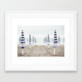 Amalfi Beach Umbrellas Framed Art Print