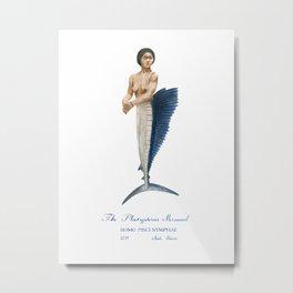 The Platyperus Mermaid Metal Print
