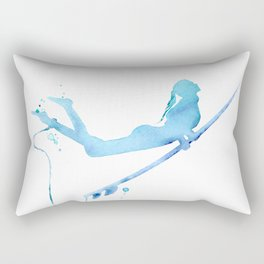 Duck Diving - Surf Art of Surfer Girl Rectangular Pillow