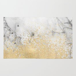 Gold Dust on Marble Rug