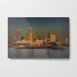San Diego Skyline at Sunset Metal Print