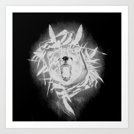 B34R D4RK51D3 (Bear Darkside) Art Print