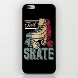 Just Skate   Retro Roller Skating iPhone Skin