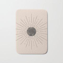 Abstract beige and black sun Bath Mat