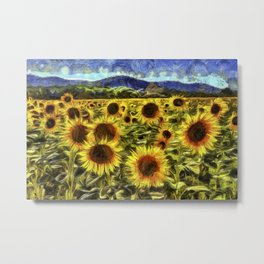 Sunflowers Vincent Van Gogh Metal Print