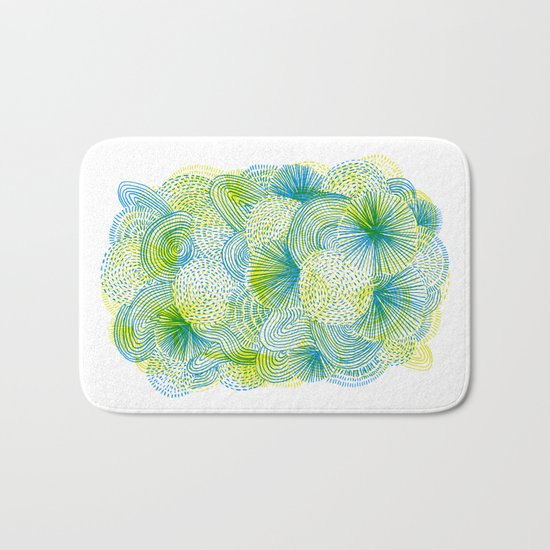 Space lime Bath Mat