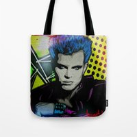 butcher billy Tote Bags featuring BILLY  by AZZURRA DESIGNS