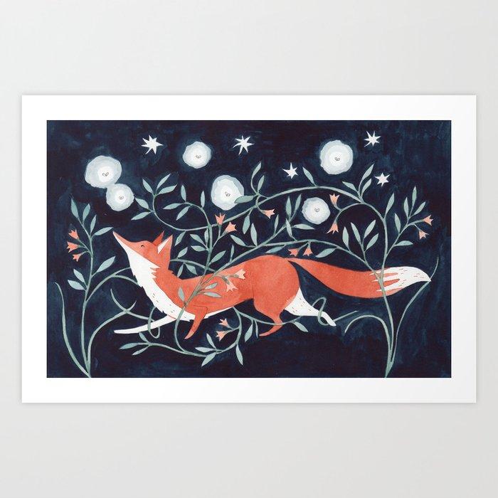 Night Fox Art Print