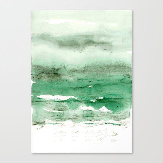 green & grey Canvas Print