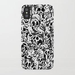 Bunnies & Skulls iPhone Case