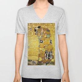 The Embrace (Fulfilment) by Gustav Klimt (1905) Unisex V-Neck