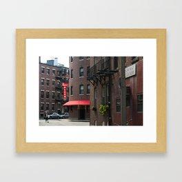 The North End Framed Art Print