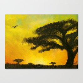 The Empty Warmth of the Sunset's Shine Canvas Print