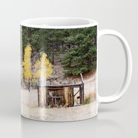 cabin Mugs featuring Fall Cabin by Vanessa Stickler