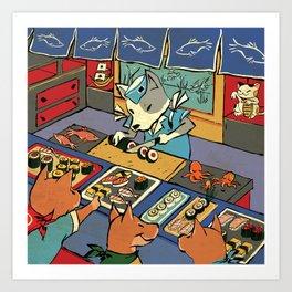 Sushi Inu Art Print