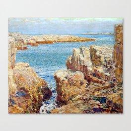 Childe Hassam Coast Scene, Isles of Shoals Canvas Print