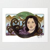 regina mills Art Prints featuring regina nouveau by raynall