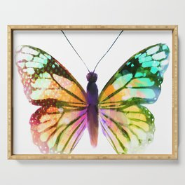 Yellow Butterfly Serving Tray