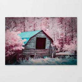 Nestled Barn Among The Forest, Idaho Canvas Print