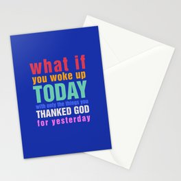 What If - Blue Stationery Cards