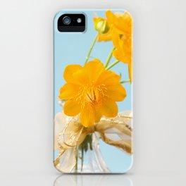 Yellow Globeflower - Golden Queen Trollius x Cultorum 2 iPhone Case