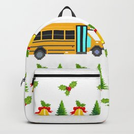 Santa Claus Gift Giving Collection Bus Driver T-shirt Design Santa Claus Gift Giving Mission Backpack