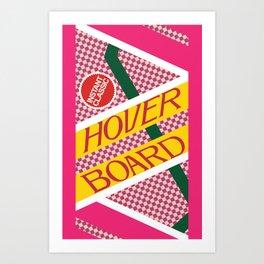 BTTF Hover Board Art Print