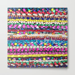 Colorful Abstract Blob Art Pattern Metal Print